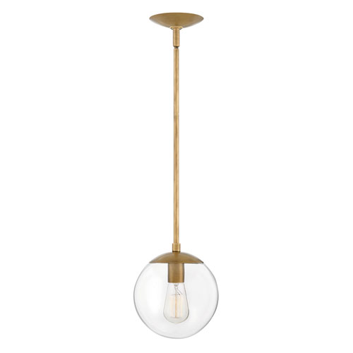 Hinkley Warby Heritage Brass One-Light Mini Pendant