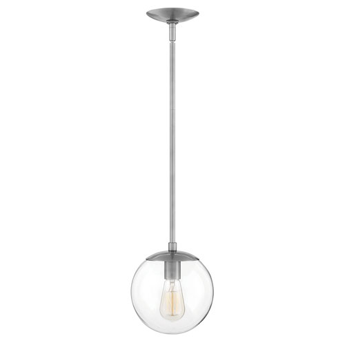 Hinkley Warby Polished Antique Nickel One-Light Mini Pendant