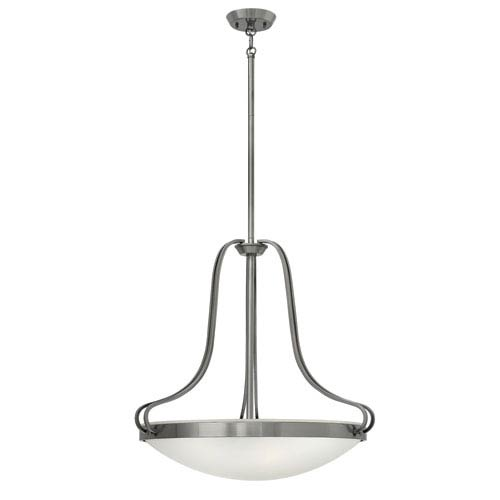 Paxton Polished Antique Nickel Four-Light Foyer Pendant