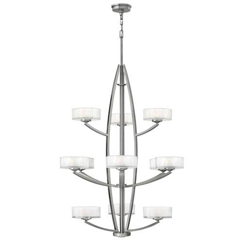 Hinkley Meridian Brushed Nickel 12 Light Halogen Pendant