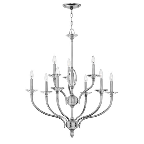 Surrey Polished Nickel Nine-Light Chandelier