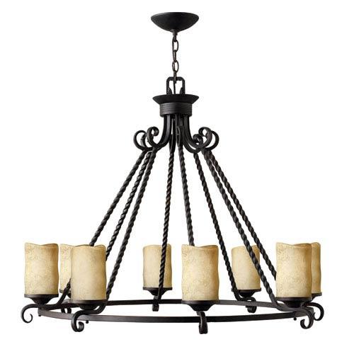 Casa Olde Black Eight-Light Chandelier