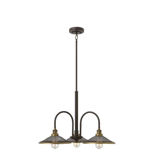 Rigby Buckeye Bronze Three-Light Chandelier