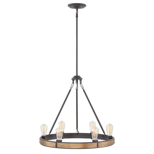 Everett Bronze Six-Light Chandelier