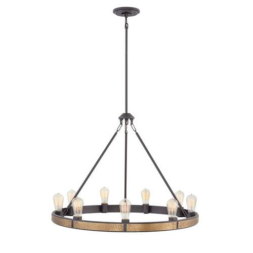 Everett Bronze Nine-Light Chandelier