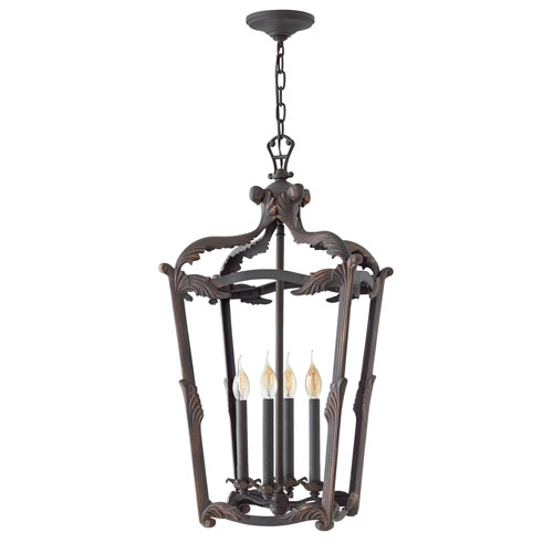 Hinkley Sorrento Aged Iron 32-Inch Four-Light Single Tier Foyer