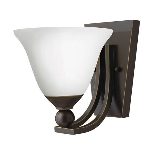 Hinkley Bolla Olde Bronze One-Light Wall Sconce with Etched Opal Glass