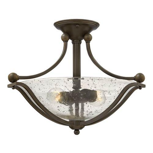 Hinkley Bolla Olde Bronze 19.5-Inch Two-Light Semi-Flush Mount