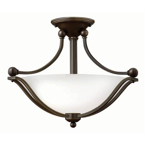 Hinkley Bolla Olde Bronze 14-Inch Two Light LED Foyer Semi Flush