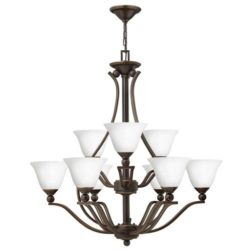 Hinkley Bolla Olde Bronze Nine Light Chandelier