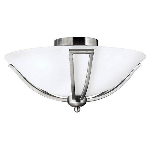 Bolla Brushed Nickel Flush Mount Ceiling Light