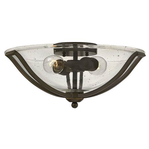Bolla Olde Bronze 17-Inch Two-Light Flush Mount