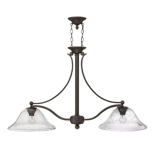 Hinkley Bolla Olde Bronze Two Light Island Pendant Ob Cl Bellacor - Two light island pendant
