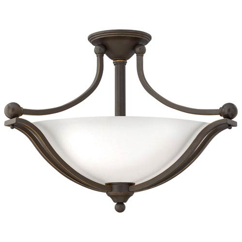 Hinkley Bolla Olde Bronze Three Light Foyer Semi Flush