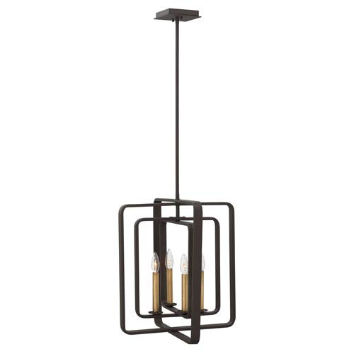 Quentin Buckeye Bronze Four-Light Pendant