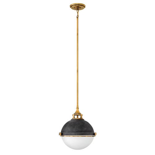 Fletcher Aged Zinc Two-Light 14.5-Inch Stem Hung Pendant