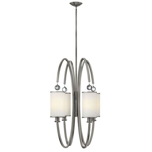 Hinkley Monaco Brushed Nickel Four Light Pendant