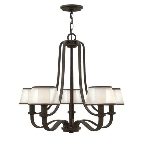 Prescott Olde Bronze Five Light Chandelier