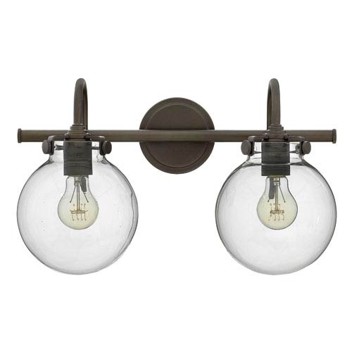 Hinkley Congress Oil Rubbed Bronze 11.5-Inch Two-Light Bath Fixture