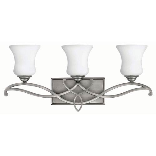 Hinkley Brooke Antique Nickel 24-Inch Three Light Bath Fixture