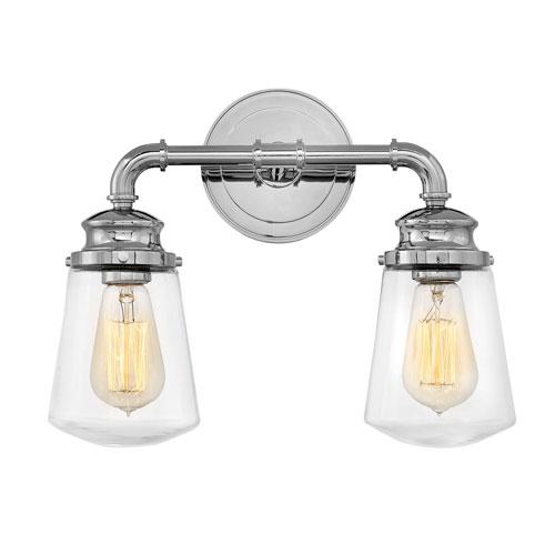 Hinkley Fritz Chrome Two-Light Bath Light