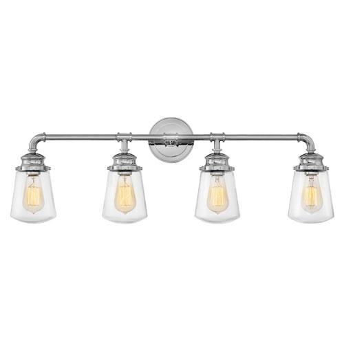 Hinkley Fritz Chrome Four-Light Bath Light