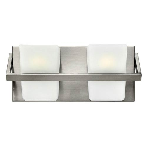 Hinkley Blaire Brushed Nickel Two Light Bath Fixture