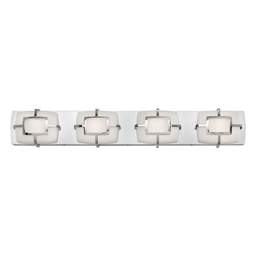 Hinkley Sisley Polished Nickel 30-Inch LED Bath Light
