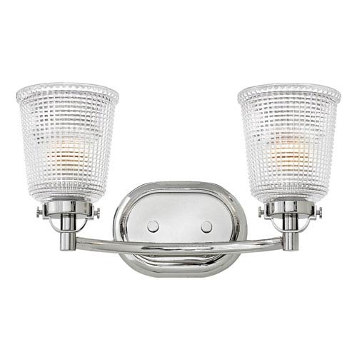 Hinkley Bennett Polished Nickel Two-Light Bath Sconce
