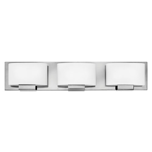 Mila Chrome 24-Inch Three-Light Bath Light