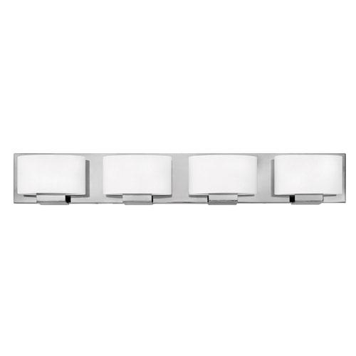 Mila Chrome 32-Inch Four-Light LED Bath Light