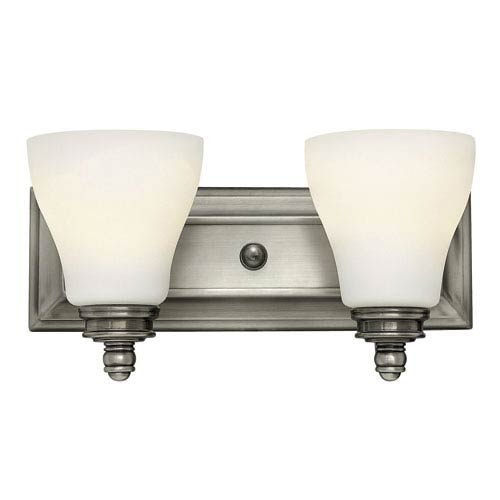 Hinkley Claire Antique Nickel Two Light Bath Fixture
