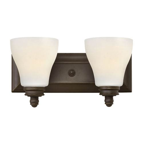 Hinkley Claire Oil Rubbed Bronze Two Light Bath Fixture