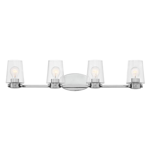 Hinkley Branson Chrome Four-Light Bath Light