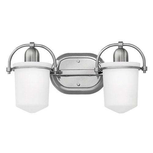 Clancy Brushed Nickel Two-Light Bath Sconce