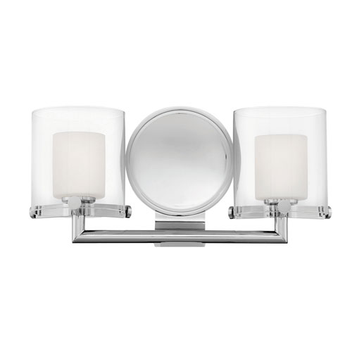 hinkley rixon chrome two light bath light 5492cm bellacor