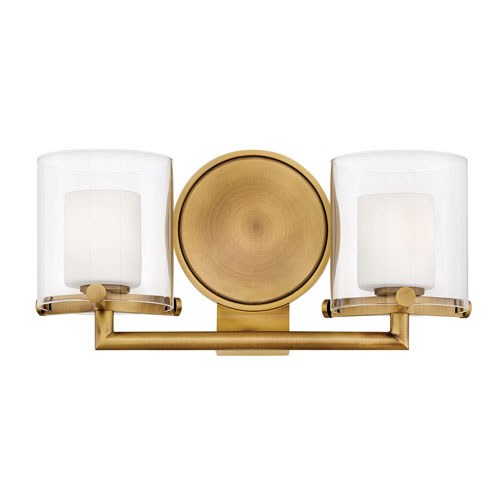 Rixon Heritage Brass Two-Light Bath Light
