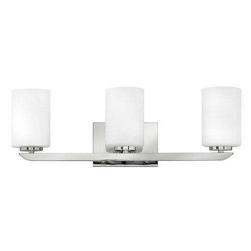 Kyra Brushed Nickel Three-Light 8-Inch Bath Light