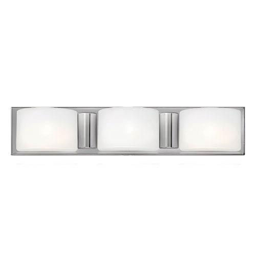 Daria Chrome Three Light Halogen Bath Fixture