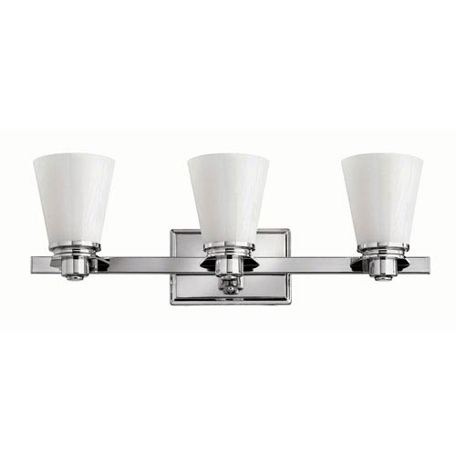 Hinkley Avon Chrome Three-Light Bath Fixture