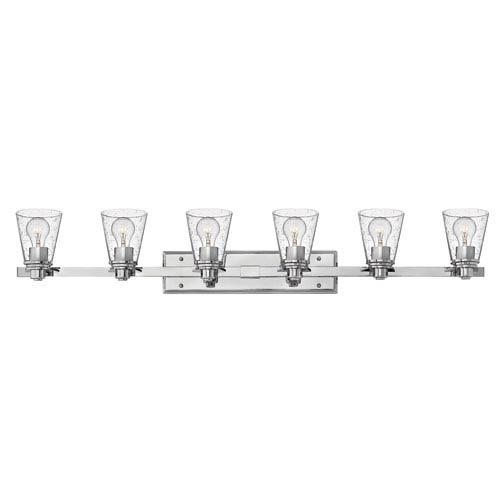 Avon Chrome Six-Light Bath Vanity