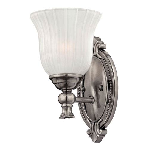 Hinkley Francoise Nickel One-Light Bath Fixture