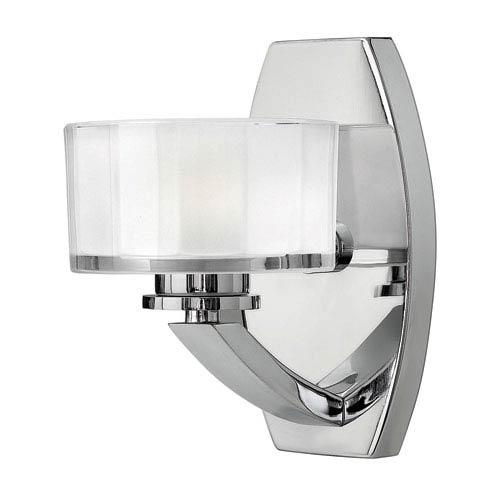 Meridian Chrome One-Light LED Bath Sconce