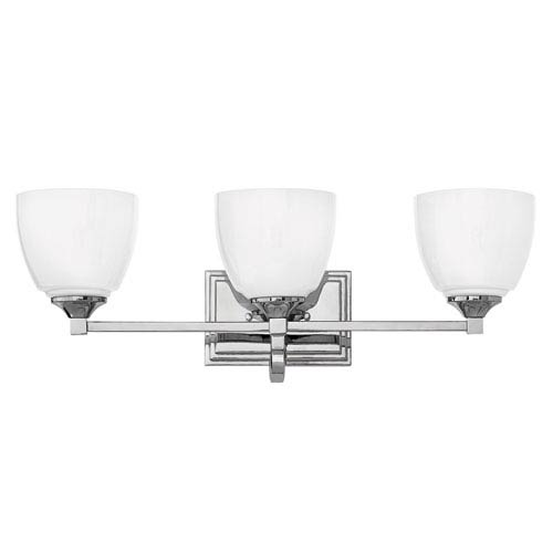 Hinkley Faye Chrome Three-Light Bath Vanity