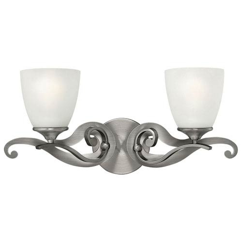 Reese Antique Nickel Two Light Bath Fixture