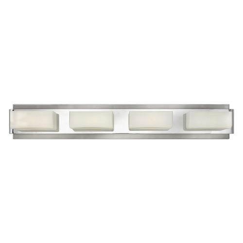 Domino Brushed Nickel Four-Light Bath Vanity