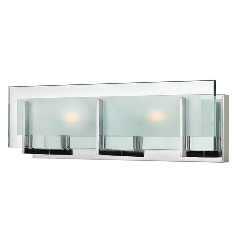 Hinkley Latitude Chrome Two Light Bath Fixture