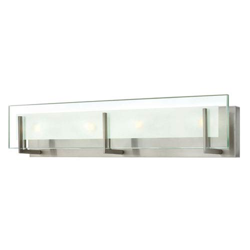 Latitude Brushed Nickel Four Light Bath Fixture