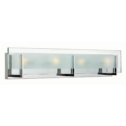 Hinkley Latitude Chrome Four 26-Inch Light LED Bath Fixture