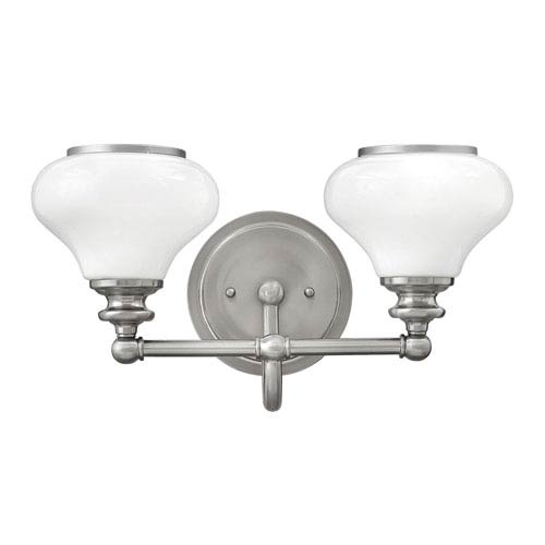 Ainsley Brushed Nickel Two-Light Bath Sconce